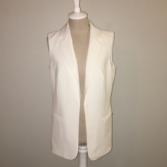 88f28f221fd0 Calvin Klein Jackets & Coats | Nwt White Sleeveless Blazer | Poshmark